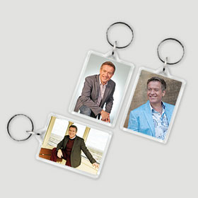 Keyring (45mm x 35mm) -  Two Different Photos - Lucky Dip Selection